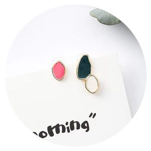 Jewelry - 💛• Enamel Mismatch Studs •💛